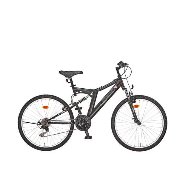 "ΠΟΔΗΛΑΤΟ LEADER ROOSTER 26"" FULL SUSPENSION V-BRAKE SHIMANO 18 ΤΑΧΥΤΗΤΕΣ"